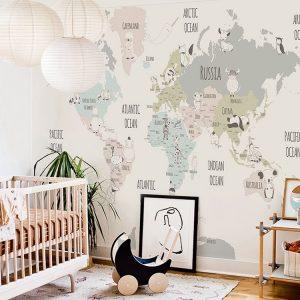 Muted map wallpaper