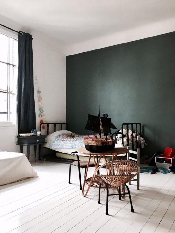 Dark green feature wall