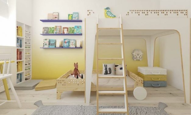 Using yellow in children's spaces.