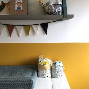 Half yellow wall