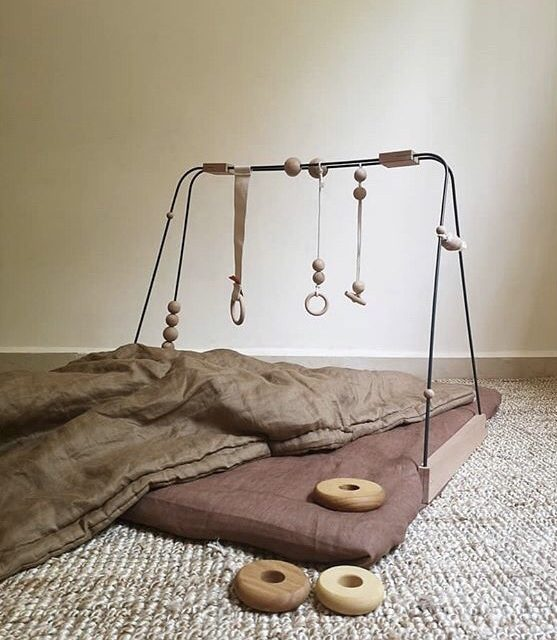Choosing a modern, stylish baby play gym.