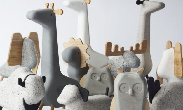 Cool and simple, Scandinavian concrete animals.