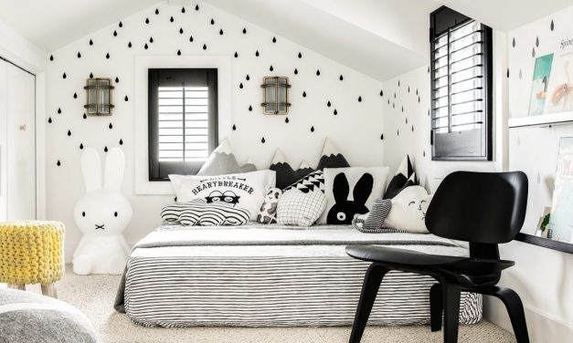 Monochrome kids rooms.