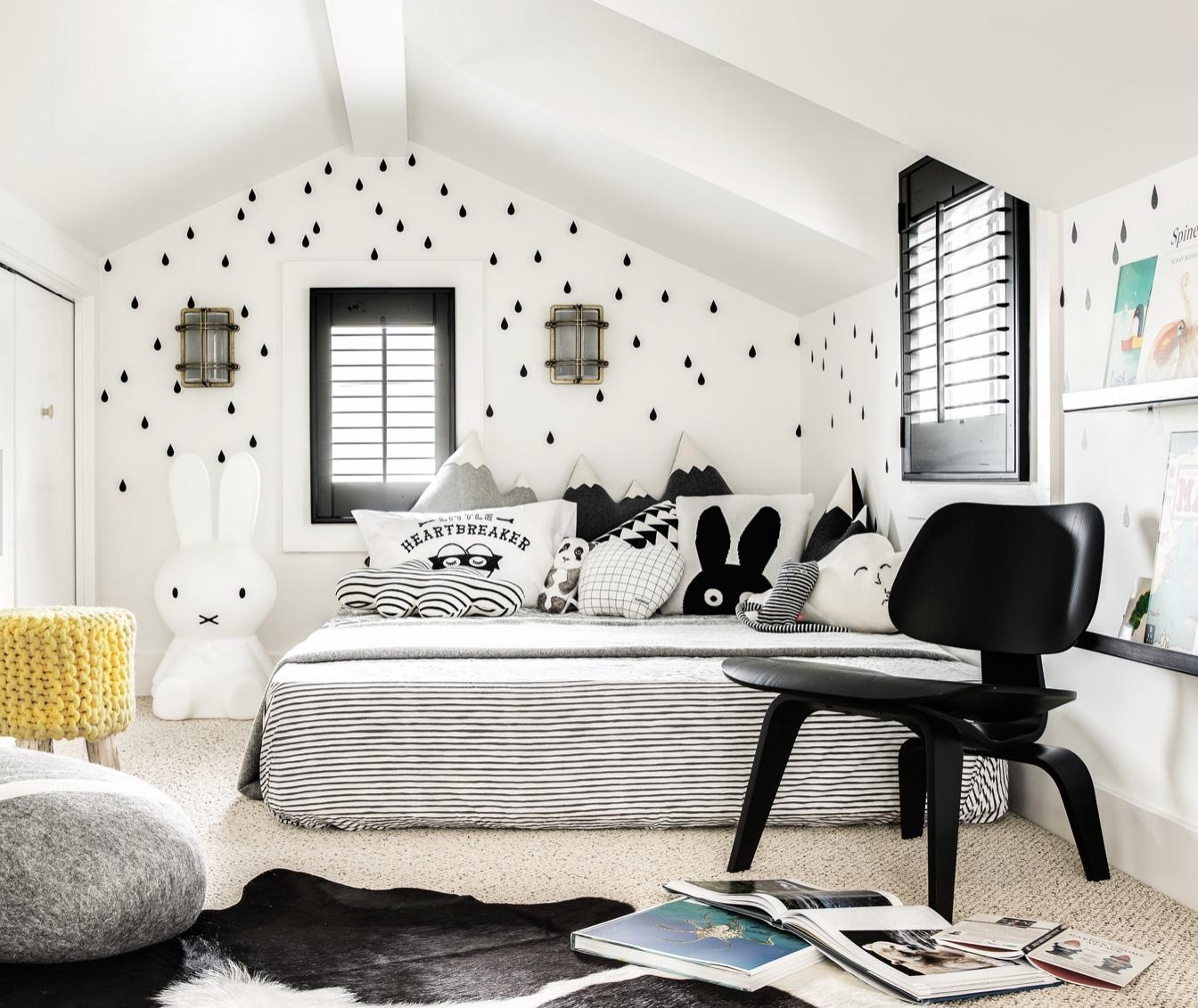 Monochrome Kids Rooms.