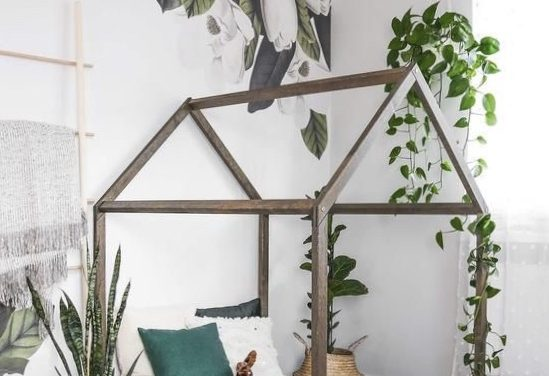 Bringing nature and the outdoors into kids rooms.