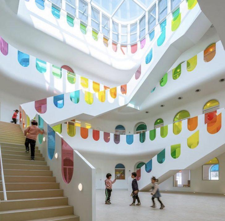 Kaleidoscope staircase