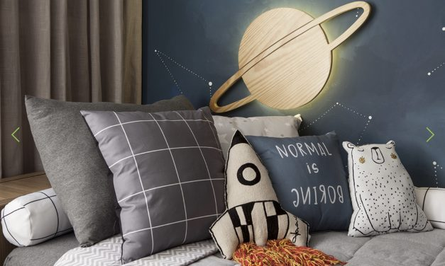 The coolest space themed room!